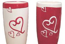 Valentine's Day Flower Vases / A great selection of colorful and delightful flower vases for Valentine's Day!