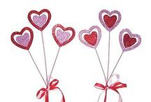 Valentine's Day Flower Picks / Flower picks are the essential topper for Valentine's Day.  View various types including many styles of assorted hearts.