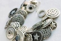 Button Jewelry / What can you do with a button?  Antelope Beads carries a wonderful selection of buttons by TierraCast - let's get creative and explore some different uses for buttons in jewelry-making!