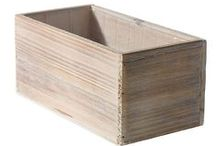 Wood Floral Containers / Planters and cubes, wood containers are great for flowers or plants.