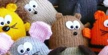 Cute Crafts and Stuffed Animals / I love making small projects, especially knitted and hand sewn stuffed animals.