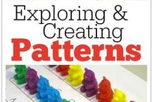 Math: Patterning / Lesson ideas and activities for teaching patterning in math to kids and students.