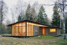 Cabin Living / What could be sweeter than the peace and quiet of a home in the woods? Most of these beautiful cabins are located in Upstate New York, mostly in the Hudson Valley and Catskill Mountains, with a few other locations thrown in for cabin inspiration. #Catskills #HudsonValley #cabins