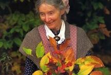 Tasha Tudor / Tasha Tudor (August 28, 1915 – June 18, 2008) American Illustrator and Writer of Children's Books ~~~  her pastel water colours and delicately pencilled lines depict an idyllic and old-fashioned vision of 19th century life which she famously pursued.   / by Deborah ShireGardener