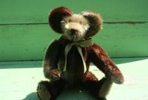 Vintage fur teddy bears from Stearnsy Bears / We make wonderful heirloom teddy bears from antique and vintage fur coats. We do this on a custom basis. So we could make you a bear that can be passed on to future generations. 417-285-3201