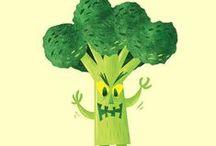 Food + illustration / La comida también es bonita! #ilustración #comida #food #illustration