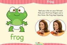 My Little Green Frog / This board is for #Hopkins, our favorite animated frog from the Baby Signing Time and Signing Time Video series!