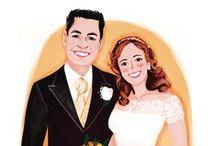 Bodas #Wedding / Ilustración y diseño personalizado para invitaciones de boda y detalles de invitados. Pregunta en hola@pedritaparker.com All about custom design for weddings! Ask at: hola@pedritaparker.com #wedding #bodas #invitación #original #personalizado