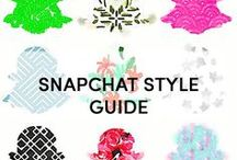 + SNAPCHAT STYLE GUIDE / Snapchat Style Guide is the cool guide to Snapchat for the 30+ set.