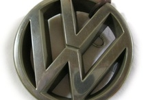 Products I Love / VW fetish. Logo front of my first volkswagen golf 1988