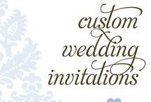 the Birds & Bees Custom Wedding Invitations / The Birds & the Bees custom wedding invitation portfolio of work.