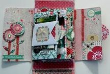 Journals • Art Expression / Expressing yourself through mixed media, altered art and paper crafting ~ Video Tutorials included.  Mini Albums, Smash Books, Altered Books, Art Journals, etc. / by Nancy ❥