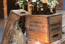 Crate & Barrel ....and Pallet / DIY projects using crates, barrels and pallets / by Enette Reese