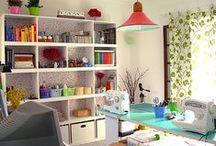 Creative Space / Inspiring studios and organization ideas.