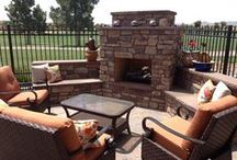 Client Work - Fireplaces & Fire Pits / We custom design & masonry construct each fireplace & fire pit for our clients.