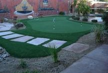 Client Work - Outdoor Putting Greens / Outdoor Putting Greens are great in Arizona Landscape Designs!