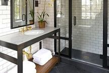 { bath and powder rooms } / by Cristina Jeanne