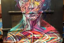 Street Masterpieces / Street artists and their work. / by Tina Edwards Hoagland