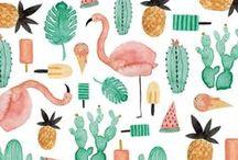 Illustrations / Illustrations, patterns and vectors