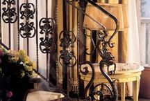 Forged Iron Railings / Nothing says classic elegance like forged wrought iron.  Here you can see examples of our extensive line of wrought iron products giving that touch of class to every space they grace.
