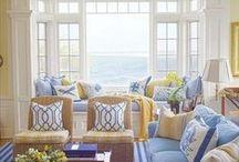 Living room, cozy corner, craft room / by Mickey Betz