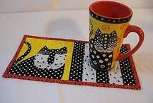 Potholders, mug rugs, tablerunners