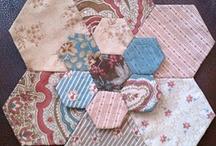 English papier piecing and handmade
