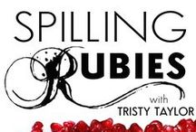"""Spilling Rubies / Spilling Rubies is a weekly live #radio #improv show inspired by the Clarissa Pinkola Estes quote, """"To create, one must be willing to be stone stupid, to sit upon a throne on top of a jackass and spill rubies from one's mouth"""" and all these images have inspired parts of the show. Listen to all the episodes at www.spillingrubies.com / by Tristy Taylor"""