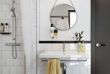 B&W Bathroom / Inspiration for bathroom reno in new Montreal house!