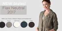 Flax Neutral / 2017 Flax Neutral is here! This collection features a dozen BRAND NEW designs plus Floods and Ankle Pants..of course. You will love the subtle pallette with neutrals solids that combine with gorgeous yarn dye fabrications of Dungaree, Pheasant, and Lavender. Take a look!