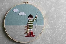 Hoop Art / Embroidered Hoop Art - perfect for a wall collection!   / by Kate Eschbach-Songs Kate Sang)