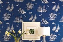 By the Sea Wallpaper & Decor / Nautical and Beach home decor including wallpaper, pillows, bedding and murals