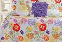 Bedding / We have a great selection of bedding from C_F that includes quilts, throw, skirts, shams and pillows.