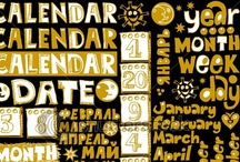 Calendars calendarios calendari calendários Kalender kalenders kalendāri  / Calendars: they tell time and often liven it up with decoration. / by Lana Z.