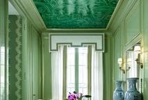 Emerald Green - Pantones Color of 2103 / Emerald Green wallpaper, Emerald Green fabric, Emerald Green paint,