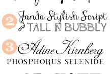 Printables and Fonts / by Rachel Mcnamara