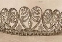 Tiara - Baden Palmette (Denmark) / The Baden Palmette Tiara: Created by Koch. Provenance: 1. Grand Duchess Luise of Baden; from her father, Emperor Wilhelm I of Germany on the occasion of her 1856 marriage to Grand Duke Frederick of Baden. 2. Queen Victoria of Sweden; inherited from her mother in 1923. 3. Queen Ingrid of Denmark; inherited from her grandmother in 1930. 4. Queen Margrethe II of Denmark; inherited from her mother in 2000.