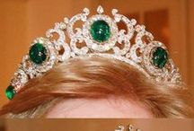 Tiara - Greek Emeralds / Greek Emerald Tiara I -in 1867, when Her Imperial Highness Grand Duchess Olga Constantinovna of Russia arrived in Greece to marry King George I. She brought with her a set of cabochon emeralds in varying sizes, and during her lifetime Queen Olga of Greece wore those emeralds in a variety of settings