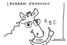 Laukaan Ekokoulu / Laukaaseen suunnittellaan Ekokoulua, joka on monella tavalla ekologinen. Johanna Janhonen toimii hankkeen sometiedottajana.