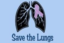 Save the Lungs / We are selling t-shirts for lung cancer awareness and all proceeds will go to the Lungevity Foundation for lung cancer research. Please go to booster.com and search Save the Lungs to place your order. Thank you!