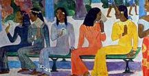 Gauguin / Paul Gauguin was a leading French Post-Impressionist artist, not well appreciated until after his death.  (1848-1903)
