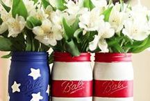 HOLIDAYS//PATRIOTIC -MEMORIALDAY &FOURTH OF JULY / Gathered inspiration for Memorial Day, Independence Day and Labor Day to make your celebrations EXTRA special! #redwhiteandblue