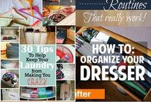 HOME//TIPS//ORGANIZE / Simple ideas to organize your life. Try tackling these ideas one at a time