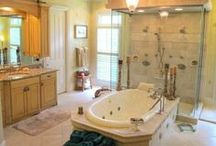 Spa & Relaxing Bathrooms / Soothing, inviting, relaxing are all words to describe these bathrooms and powder rooms.  Here you will find bathroom design that will remind you of a day at the spa. / by Alliance Sotheby's International Realty