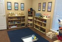 Play Therapy Room of Pam Dyson, MA, LPC-S, RPT-S / by Pam Dyson