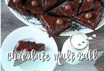 Chocolate Chocolate Chocolate / Chocolate cake, chocolate ice cream, chocolate donuts, chocolate brownies, chocolate cookies...everything chocolate