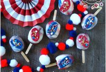 4th of July / Recipes and ideas for celebrating the 4th of July, desserts, barbecue, decorating, fun