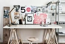 Studio Space / Ideas for art work spaces and creative environments  / by Cross My Hart