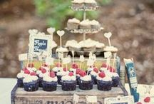 Wedding Dessert Table Ideas / If you want your guests to have dessert options, having a dessert table or station with an array of different sweet treats is a tasty choice. With these wedding dessert table ideas, you'll be inspired by the set up, colors, and display of these yummy treats! / by MODwedding