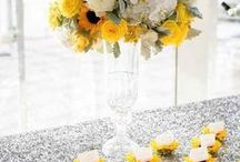 Yellow Wedding Ideas / There is something so energizing about a refreshing citrus hue or a soft lemon accent color. Paired with gold tones for romantic fall decor or pastel shades for spring, yellow is one of the most versatile colors for any season. / by MODwedding